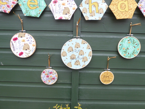 Positivity Embroidery Hoops