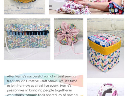 Sewing Workshops at Creative Craft Show