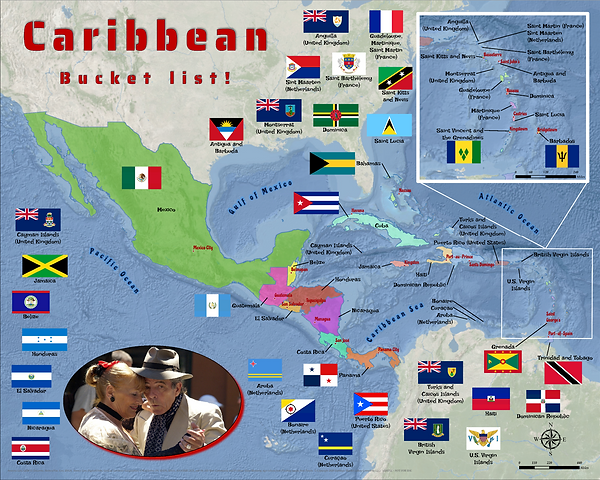 Caribbean Central America puzzle adult s