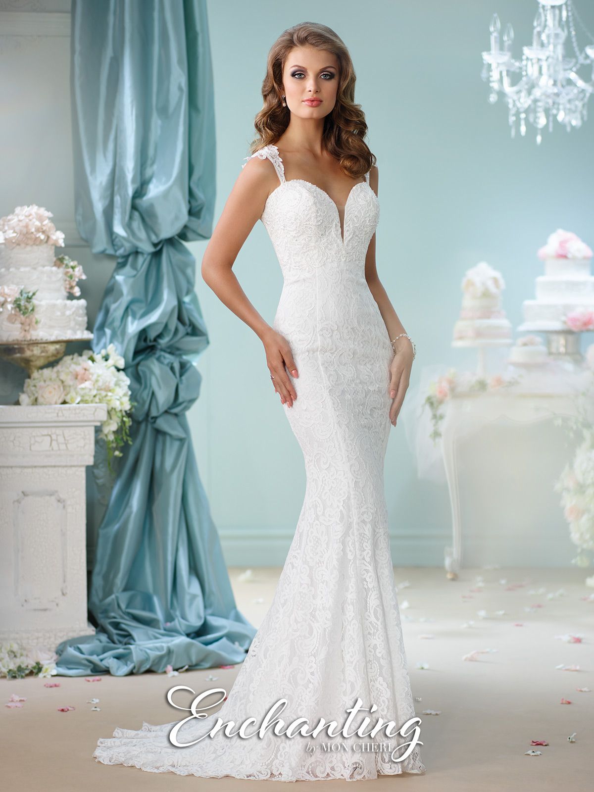 Shoulder Straps Wedding Dress by Enchanting 116140 | Wedding Gowns ...