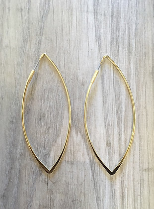 ML Gold Oval Hoops