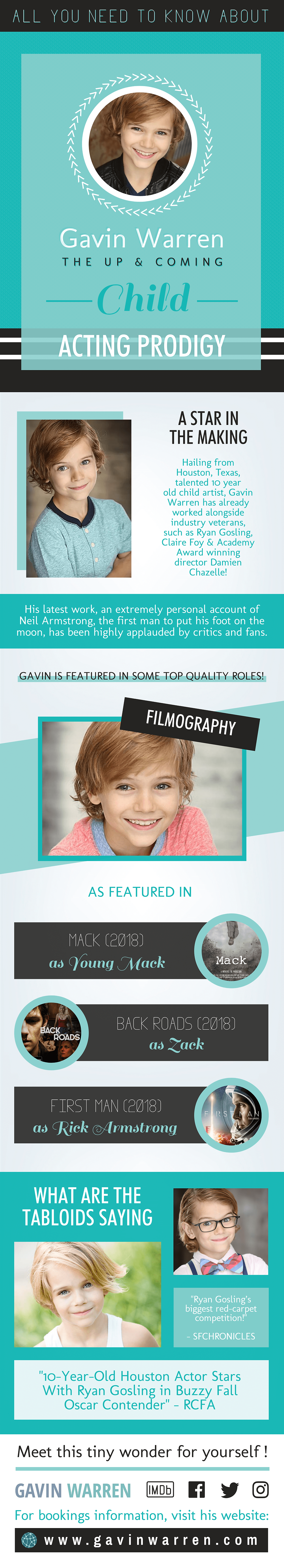 All You Need To Know About Gavin Warren - The Up & Coming Child Acting Prodigy - Thumbnail