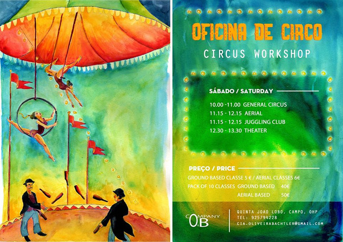 Saturday Community Circus Classes are back! @ our studio on Quinta Joao Lobo