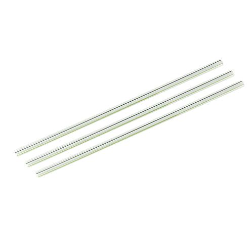 Pailles PLA transparentes avec lignes vertes ( U.V. 400pcs )