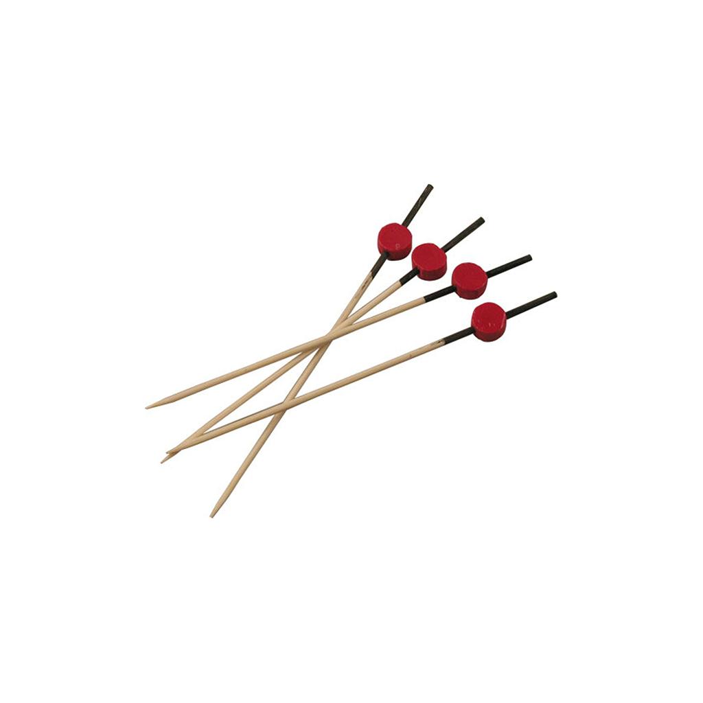 Pics brochette rouge et noir 12cm