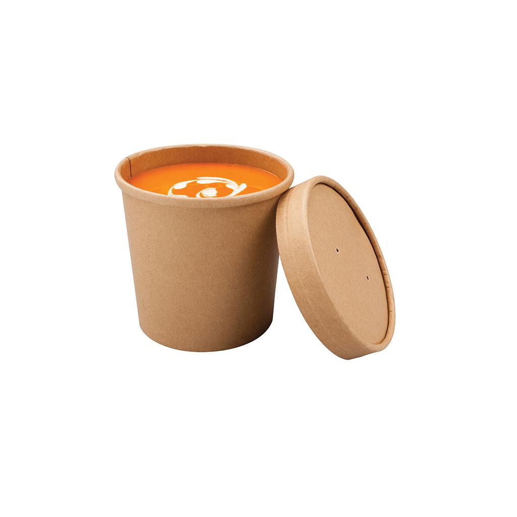 Pot à soupe kraft 350ml