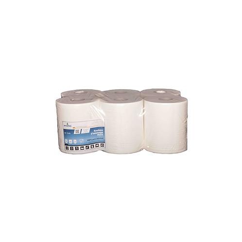 Rouleaux d'essuyage blanc ADline - pure cellulose ( U.V. 6rlx )