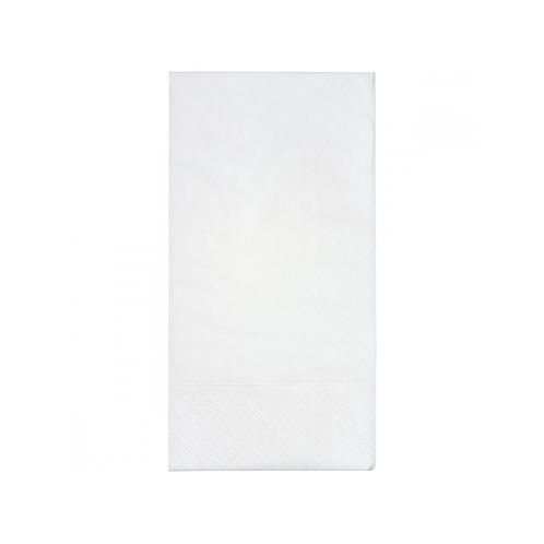 Serviettes blanches 33x33 - 2c - 1/8 ( U.V. 2700pcs )
