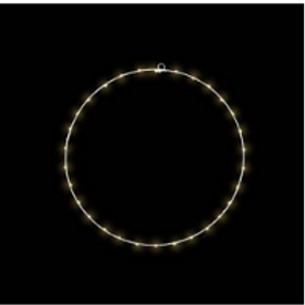 ANTHOR - Cercle métal 60cm fil cuivre - 50 LED