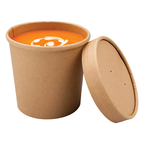 Pots à soupe kraft 350ml ( U.V. 500pcs )