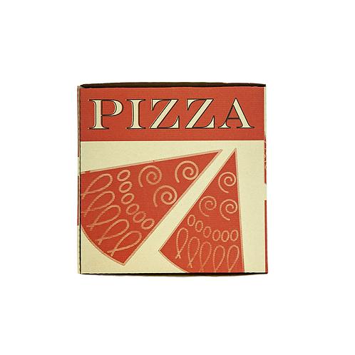 Pizza Box 33x33x3.5cm Kraft Brun AD ( U.V. 100pcs )
