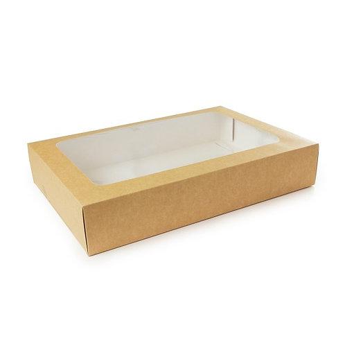 Coffret LARGE compostable avec tiroir et fenêtre PLA ( U.V. 25pcs )