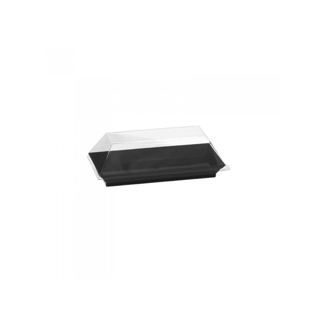 Assiette Cubik Noir 130x65mm