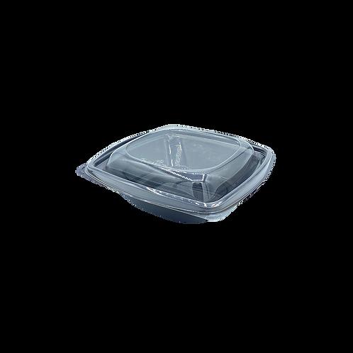 Bol à salade noir PLA avec couvercle transparent 720ml (U.V. 300pcs)