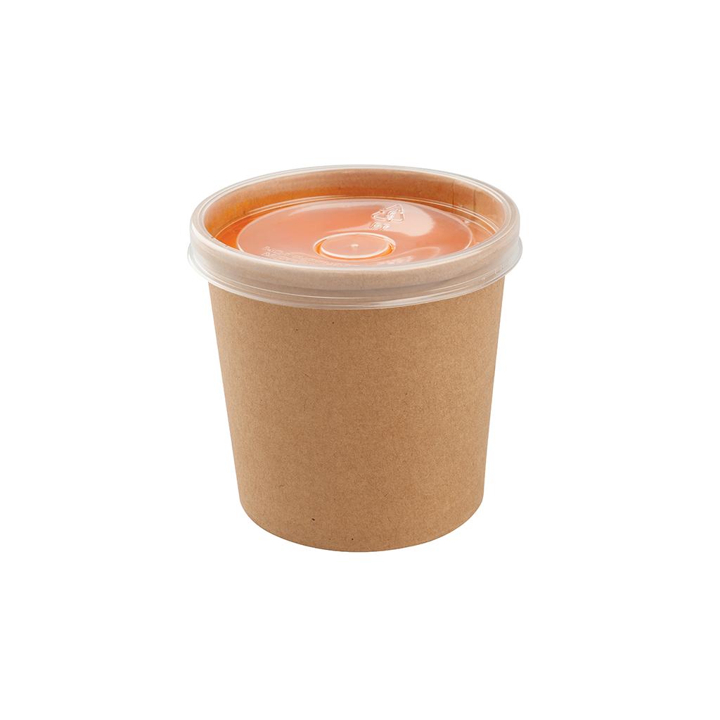Pot à soupe kraft 450ml