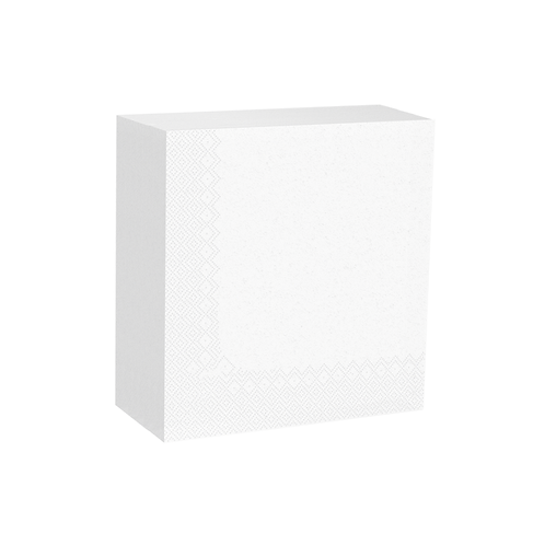 Serviettes cocktail blanches 25x25 - 2c - 1/4 ( U.V. 3600pcs )