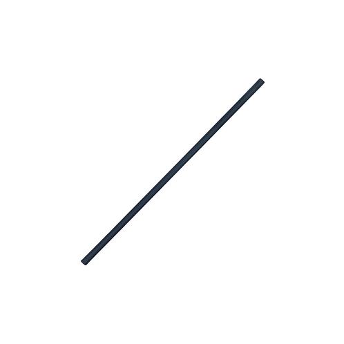 Pailles PLA noires - 100% compostables 21cm ⌀6mm ( U.V. 500pcs )