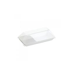 Assiette Cubik Bagasse 130x65mm