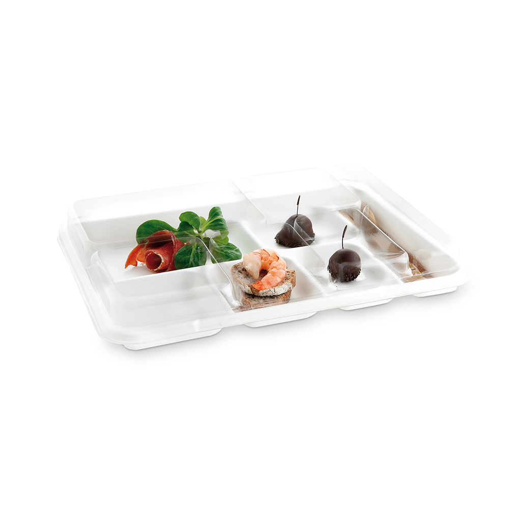 Plateaux repas Fibra Snack 6 tray