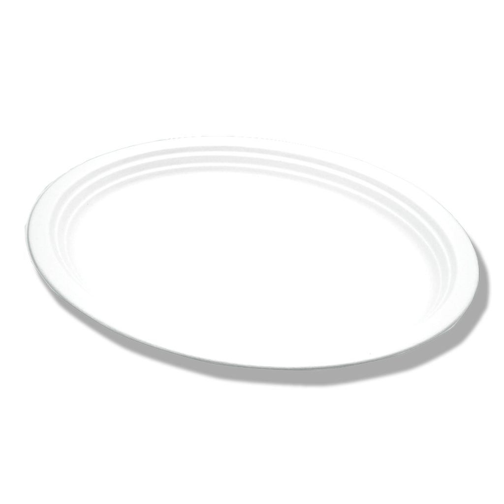 Assiette Bagasse ovale ⌀26