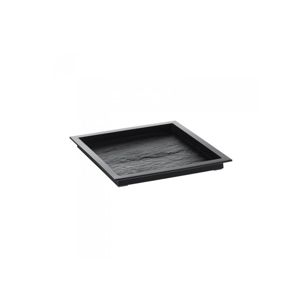 Assiette Textura Noir 130x130mm