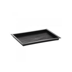 Assiette Textura Noir 180x130mm