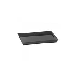 Assiette Cubik Noir 180x130mm