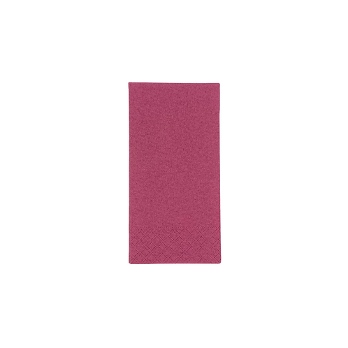 Serviettes 40x40  2c  1/8  Bordeaux (U.V. 2100pcs )