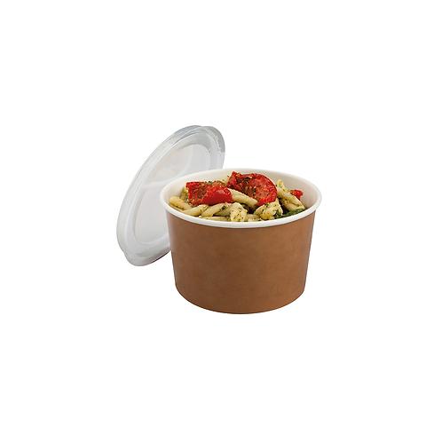 Pot Multi-Food 470ml kraft avec couvercle PET ( U.V. 500pcs )