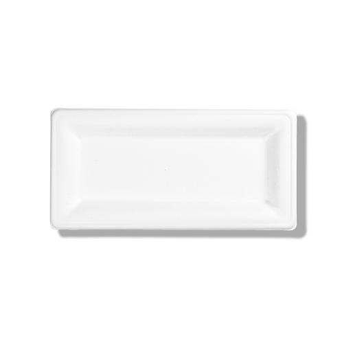 Assiette Cuadra Bagasse ADBio rectangle 26x13cm ( U.V. 100pcs )