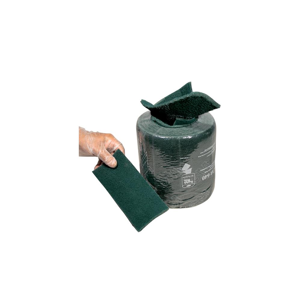 Tampons verts abrasifs en rouleau