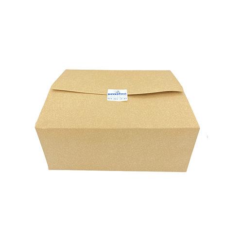 Postal Lunch box - Carton kraft - 260x205x113mm (U.V. 80pcs)