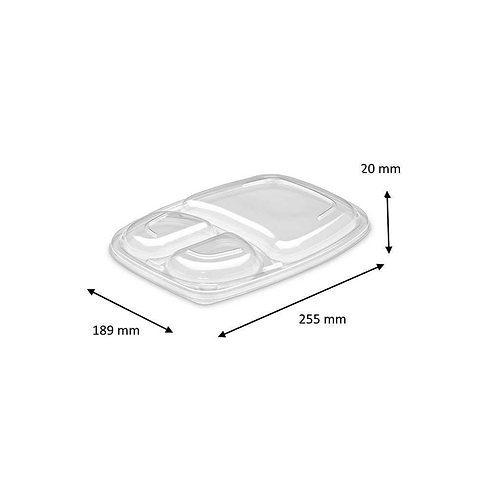 Couvercles Cookipack 3 compartiments ( U.V. 320pcs )
