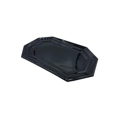 Plateau rectangulaire noir APET - 385x255mm (U.V. 25pcs)