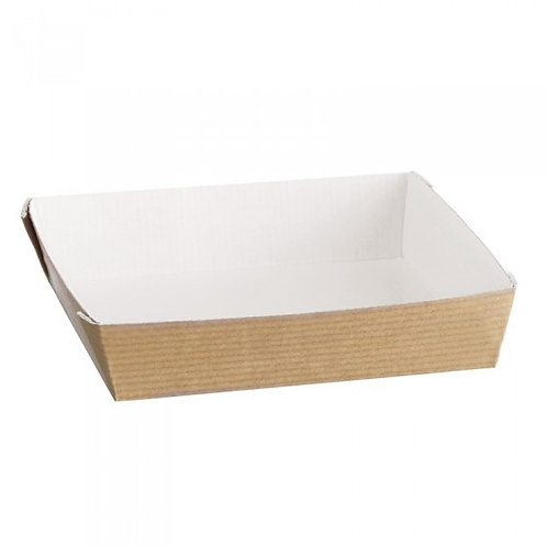 Assiettes Cubik naturel 130x130 (U.V. 100pcs)