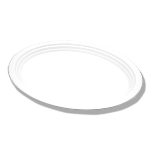 Assiette Bagasse ADBio ovale Ø26cm ( U.V. 100pcs )