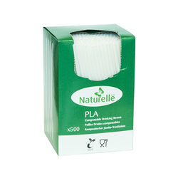 Pailles PLA translucides 20mm