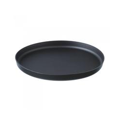 Assiette Santo noir 200