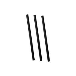 Paille noires flexibles 21cm