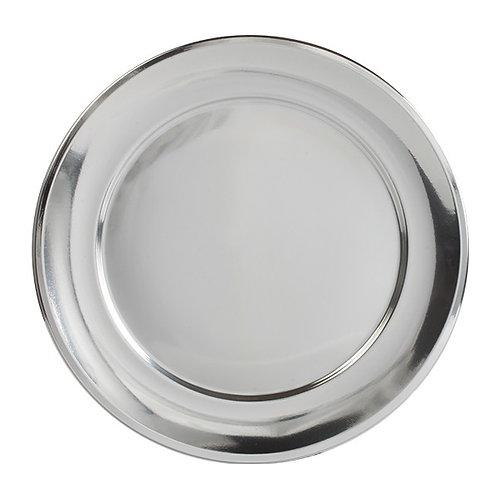Assiettes argent 31cm (U.V. 25pcs)