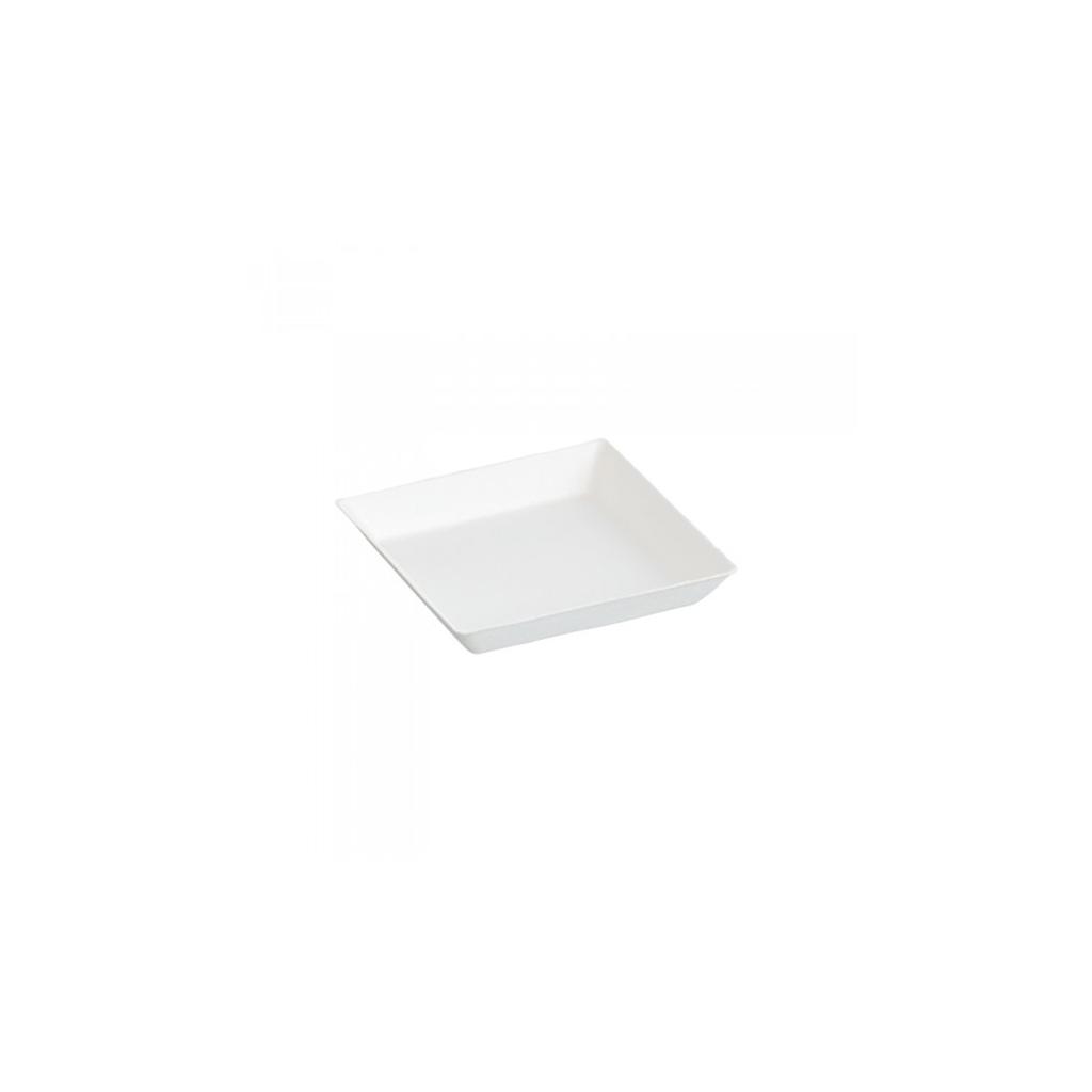 Assiette Cubik Bagasse 100x100mm