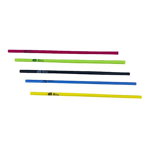 Pailles PLA pastels - 100% compostables - 21cm ⌀6mm ( U.V. 500pcs )