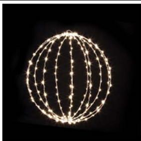 DELICACY - Sphère 3D pliable - fil cuivre- 180 LED