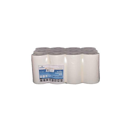 Rouleaux d'essuyage MINI Blanc ADline - pure cellulose ( U.V. 12pcs )