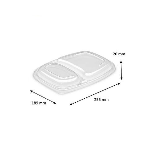 Couvercles Cookipack 2 compartiments ( U.V. 320pcs )