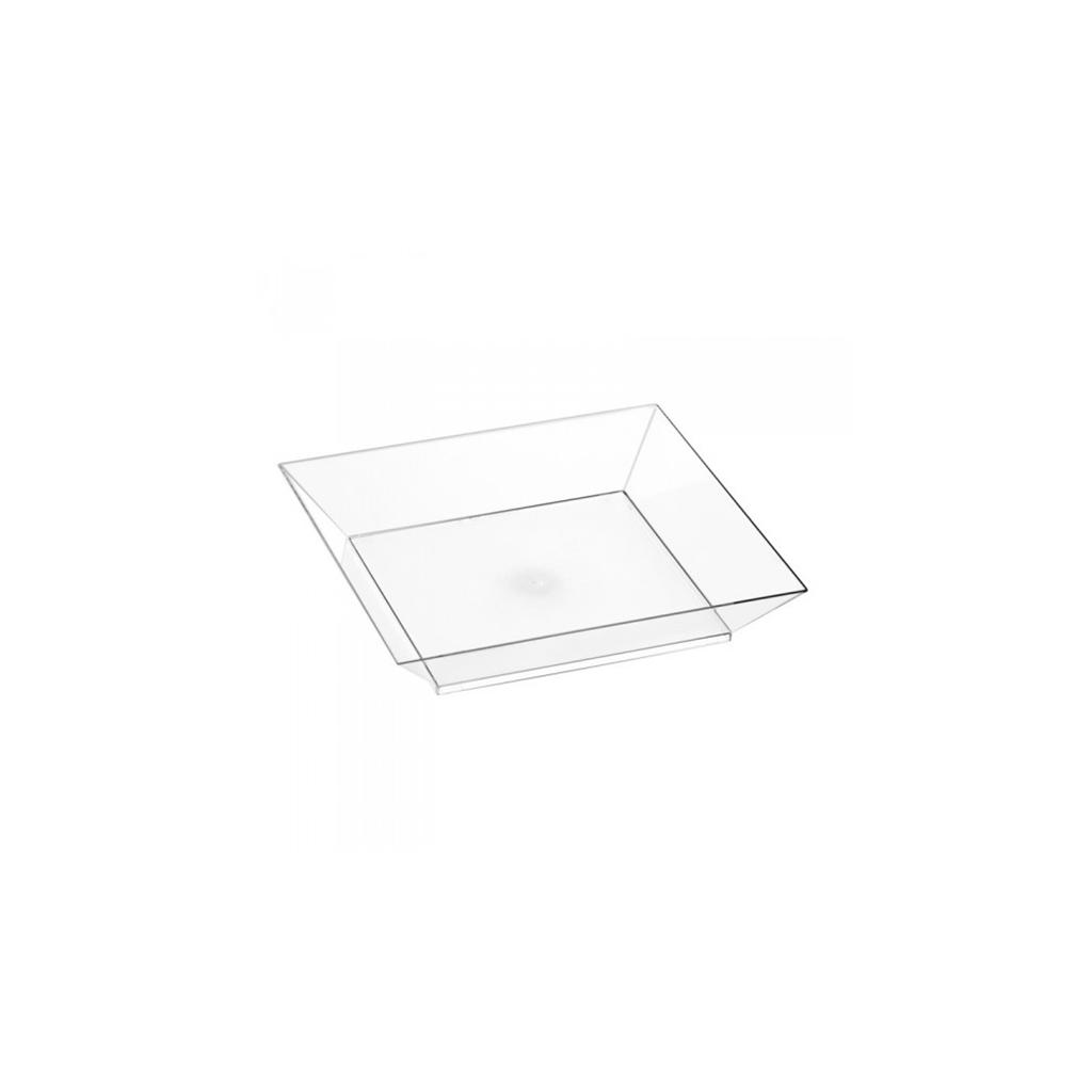 Assiette Cubik Crystal 100x100mm