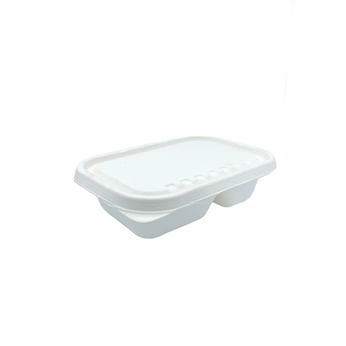 Barquette bagasse 2 compartiments - 1000ml