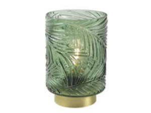 BRICH - Lampe Art Déco vert - Texture végétale