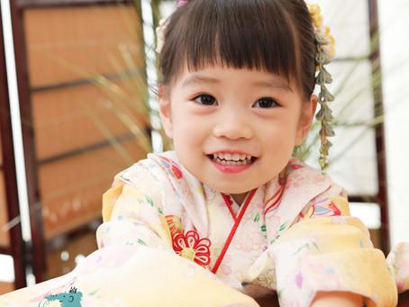 ニコニコ笑顔で可愛く撮影したい!七五三の着物レンタル・着付け・ヘアセット・メイク・おでかけも☆