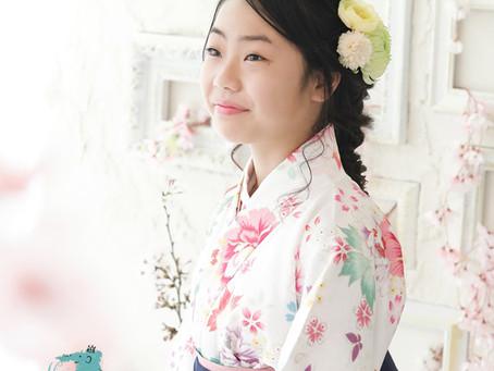 小学生の卒業袴レンタル・着付け・ヘアメイク・撮影承ります☆
